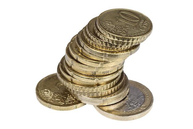 Куча бронзовых евроцентов