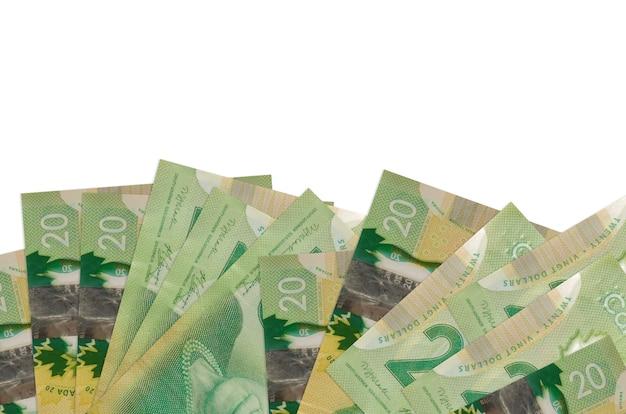 カナダドル紙幣の山