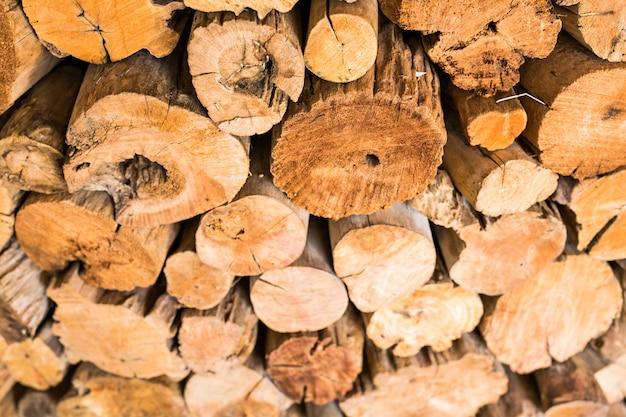 カット木の切り株ログテクスチャの山