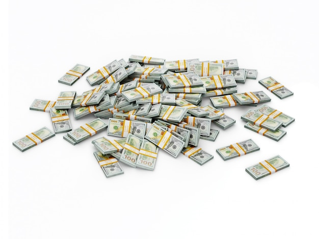 Куча долларовых пачек