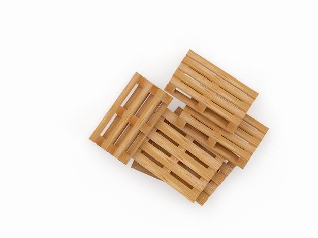 Куча пустых деревянных поддонов