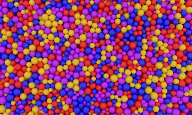 ガムボールの山がカラフルなボールで画面を埋めます子供用プールの色とりどりのプラスチック球