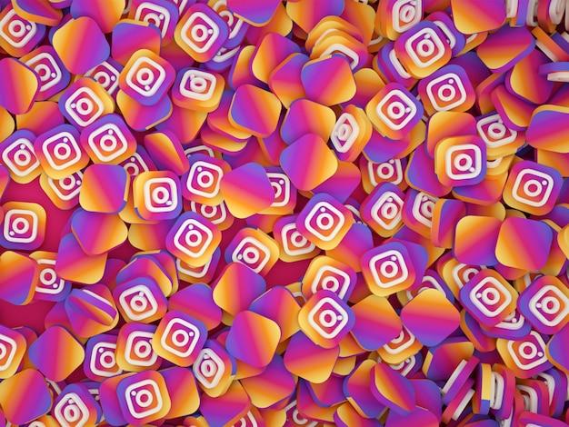 Instagramのロゴの山
