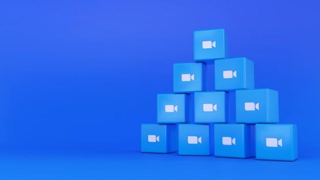 Куча логотипов зум-куб