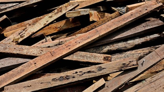 Pile of old wood chips - background