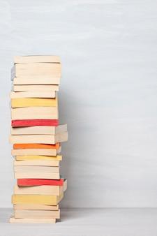 Pile of pocket books.