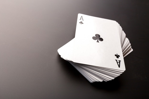 Pile of poker cards