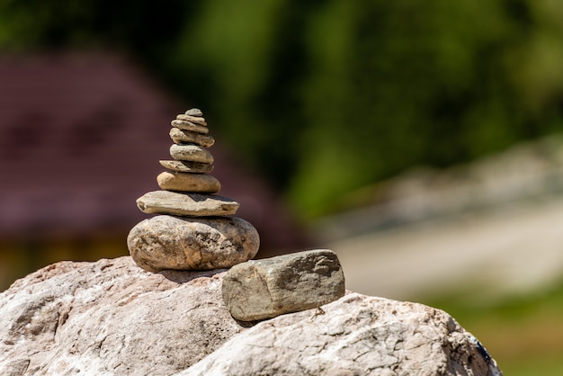 Pile of rocks stone. zen concept