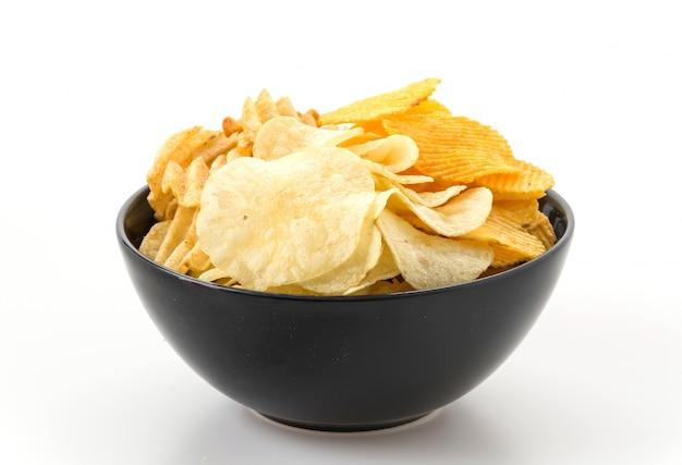Pile salty snack bowl tasty