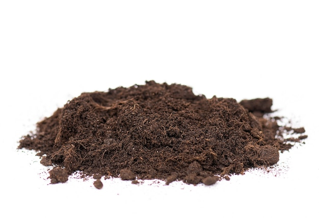 Pile of soil or ground isolated on white background
