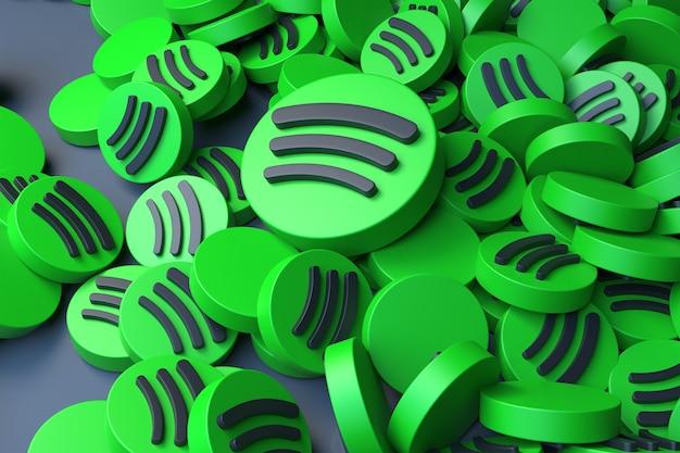 3d-рендеринг логотипа pile spotify