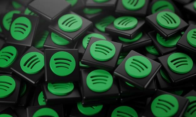 Pile of spotify logos
