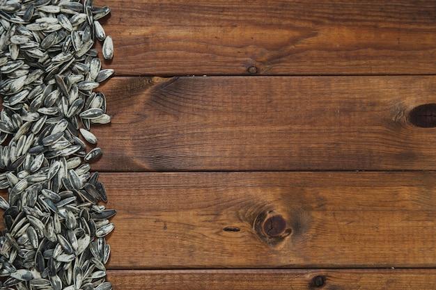 Pile of sunflower seeds