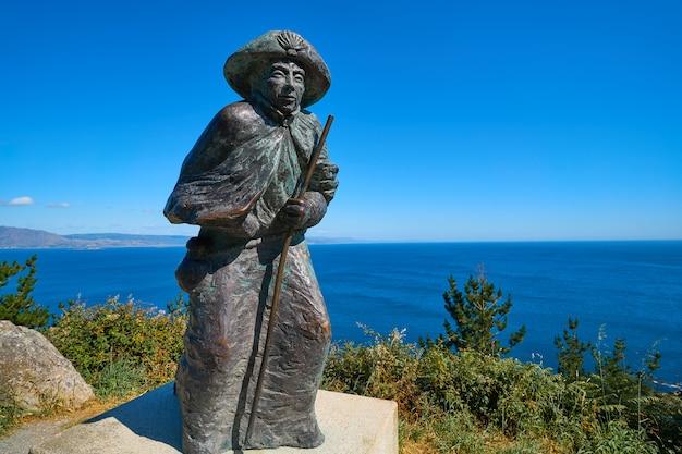 Pilgrim statue finisterre end of saint james way
