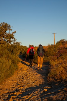 Pilgrimns along the way of st. james