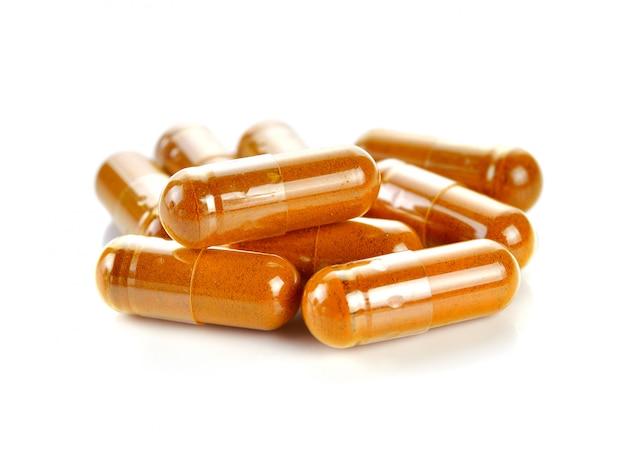 Pill.tumeric powder capsules