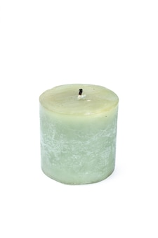 A pillar candle isolated on a white