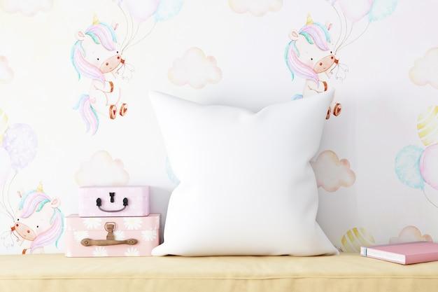 Детский макет подушки белый
