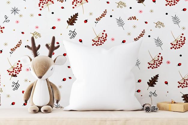 Детский макет подушки с оленем