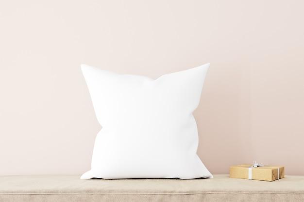 Pillow mockup on sofa
