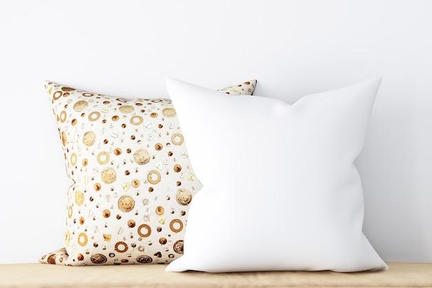 製品を紹介する枕のモックアップ