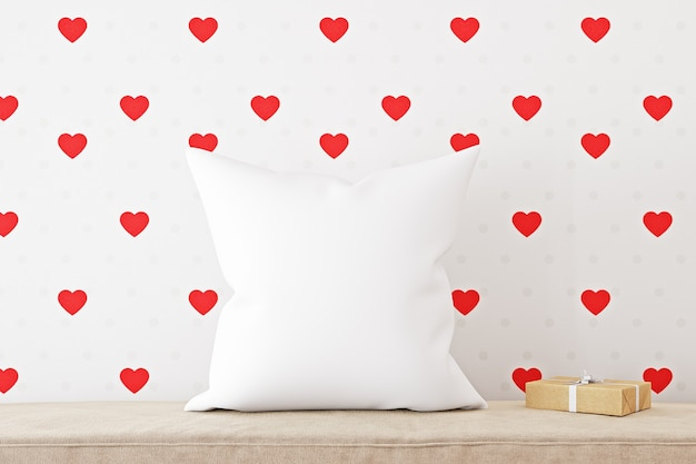 Pillow mockup for valentines day