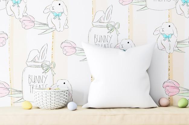 Pillow mockups kids easter