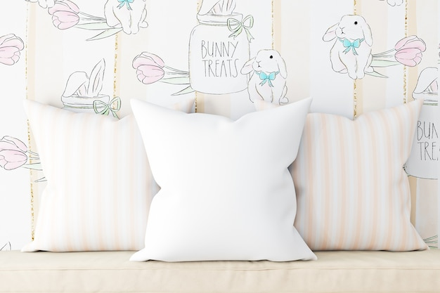 Pillow mockups white color