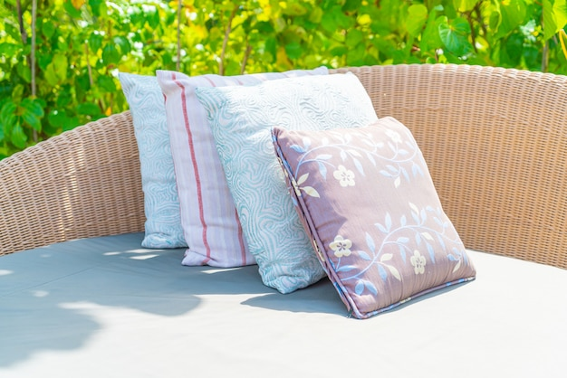 Pillow on sofa chair decoration outdoor patio