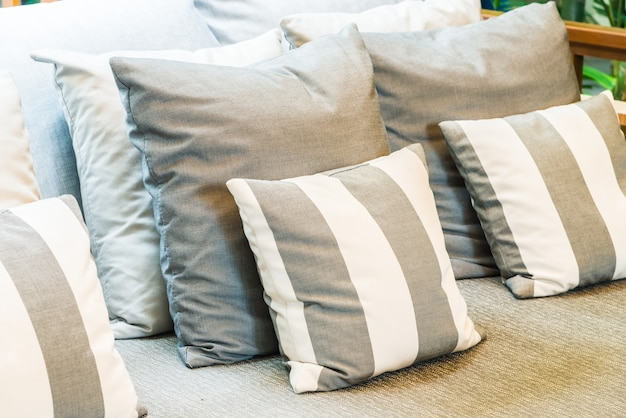 Pillow on sofa decoration in living room