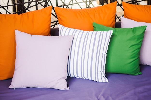 Pillow on sofa