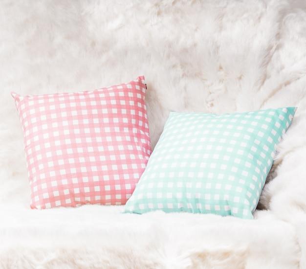 Pillows on the sofa