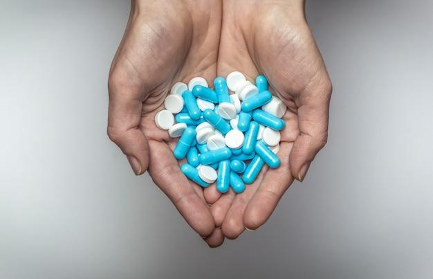 Pills in the hands