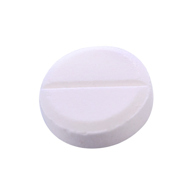 白で分離された丸薬