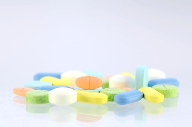 Pills in pastel tone.