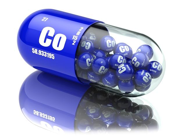 コバルトco元素を含む錠剤栄養補助食品ビタミンカプセル3d