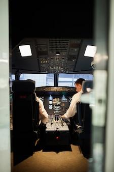 Pilots in cabin