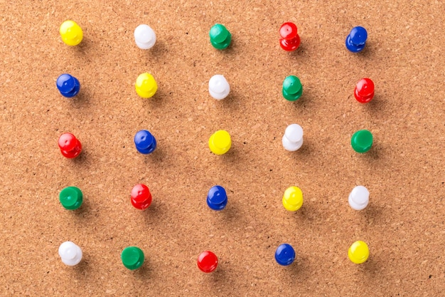 Pin board texture for background and colorful pins
