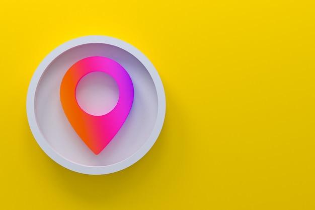 핀 아이콘 최소한의 로고 3d 렌더링