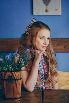 Очаровательная девушка