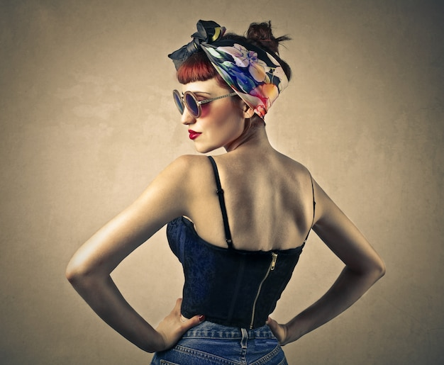 Pin-up style girl