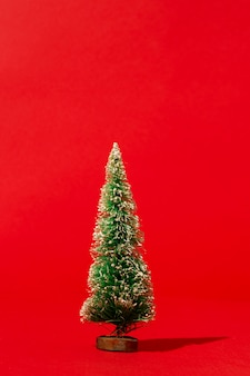 Pine on red wall