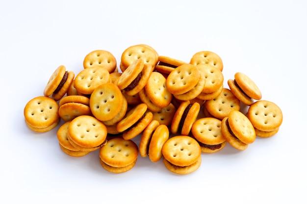 Ананасовое печенье, изолированные на белой поверхности
