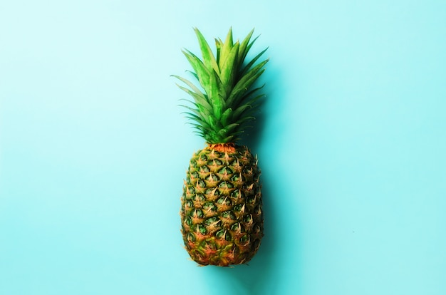Pineapple on blue