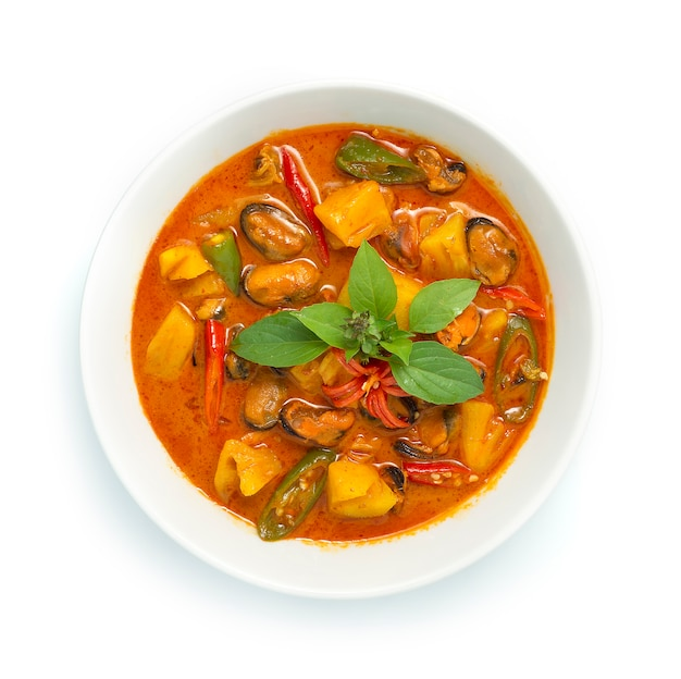 Ананасовый карри с мидиями ингредиенты red curry