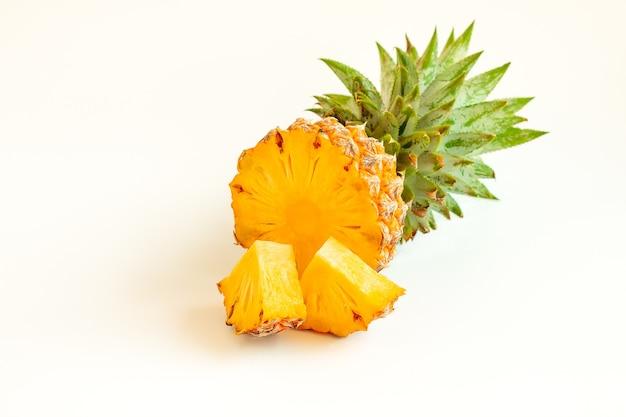 Pineapple fruit on white background
