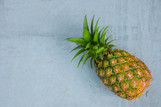 Pineapple fruit on wood table, picec of pineapple fruit for diet healthy