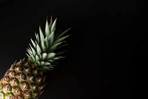 Pineapple isolated on black. fresh exotic, tropical fruit.