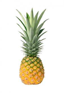 Pineapple isolated on white background with clipping path.