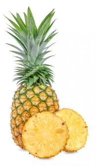 Pineapple isolated on white with clipping path